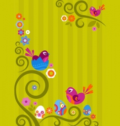 floral Easter graphic design vector image