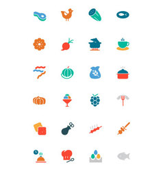 Food and Drinks Colored Icons 7 vector