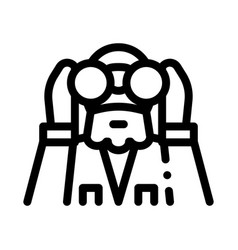 Forester looking binoculars icon outline vector