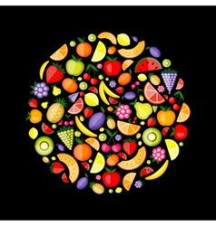 fruits circle vector image