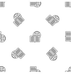 global learning pattern seamless vector image