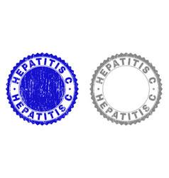 Grunge hepatitis c textured stamps vector
