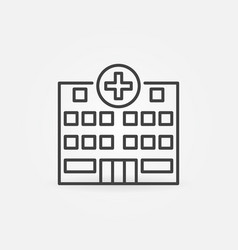 hospital medical building concept icon in vector image