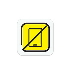 Icons are prohibited from carrying a cellphone vector