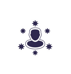 Immune system icon on white vector