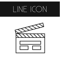 isolated clapper outline cinematography vector image