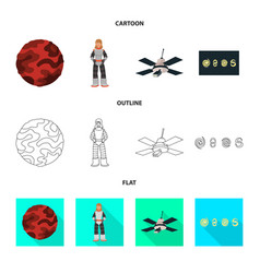 isolated object of astronomy and technology icon vector image