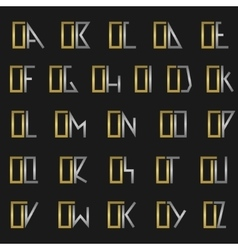 Letter o with alphabet vector