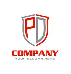 Letter pd logo design vector
