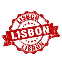 Lisbon round ribbon seal vector