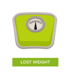 Lost weight isolated scales or weigher sport and vector