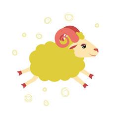 Lovely little lamb jumped of an vector