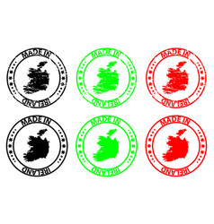 Made in ireland rubber stamp vector