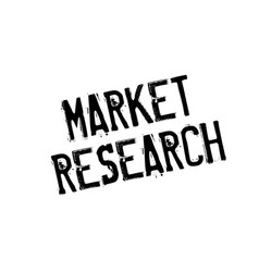 Market research rubber stamp vector