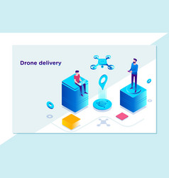 modern technological delivery innovation - drone vector image