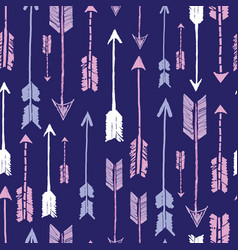 navy tribal arrows repeat pattern design vector image