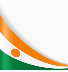 Niger flag background vector