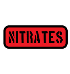 Nitrates sign label vector
