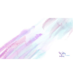 pastel abstract watercolor brush background vector image