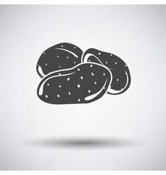Potato icon on gray background vector image