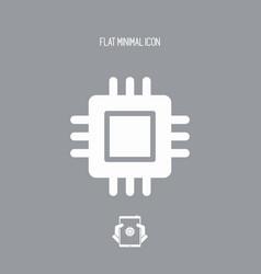 Processor symbol - minimal icon vector