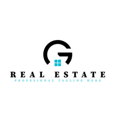 real estate initial letter g logo design template vector image