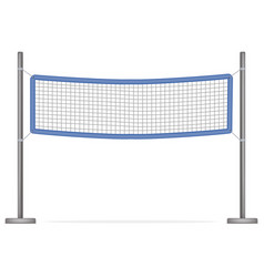 Realistic detailed 3d volleyball net vector