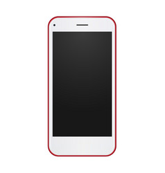 red phone concept with empty blank screen to vector image vector image