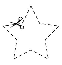 scissors cut school supply icon vector image