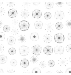 Set of Starbursts Symbols Seamless Pattern vector
