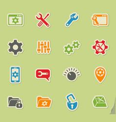Settings icon set vector