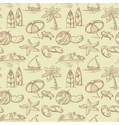 sketchy summer pattern vector image