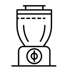 smoothie blender icon outline style vector image