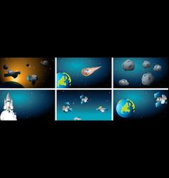 space background scene set vector image