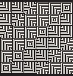 stylish lines maze lattice ethnic monochrome vector image