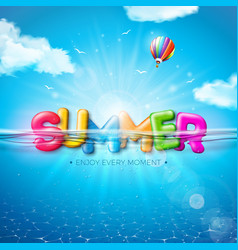 Summer with colorful 3d vector