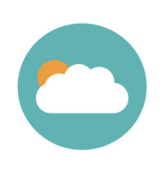 sun and cloud weather flat vector image vector image