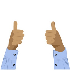 Two hands with thumbs up vector