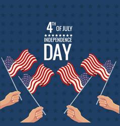united states independence day celebration vector image