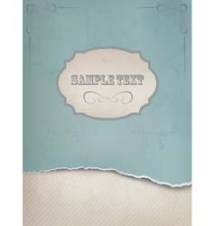 Vintage background with ripped old paper vector