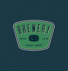 vintage brewery logo retro styled beer emblem vector image