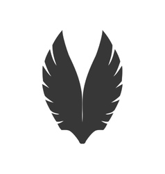 wing feather animal bird angel icon vector image