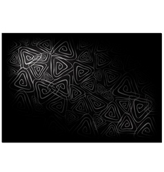 Black Vintage Wallpaper with Triangle Spiral vector image vector image