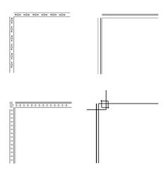 Decorative corners vector image
