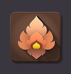 Flat design thai art icon and decoration vector image
