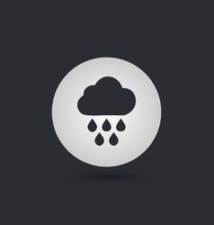 rain single flat icon on white circle background vector image vector image