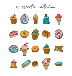 Sweets colorful collection vector image vector image