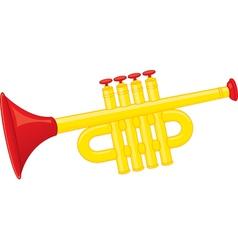 Trumpet toy vector image vector image