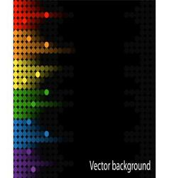 abstract music volume equalizer on black backgroun vector image vector image