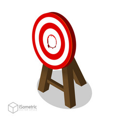 breakthrough target goal flat isometric style vector image vector image